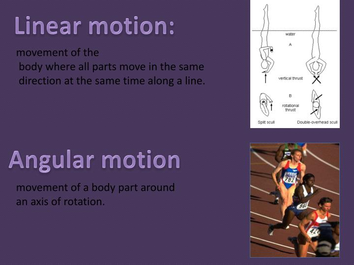 Linear motion: