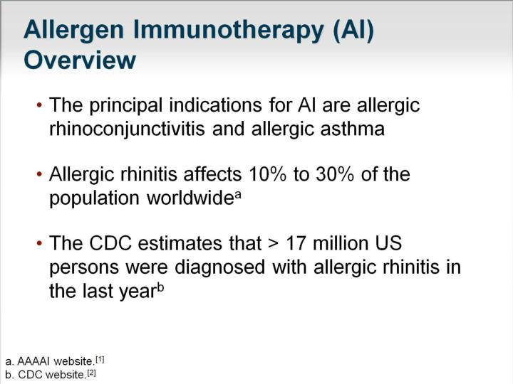 Allergen Immunotherapy (AI) Overview