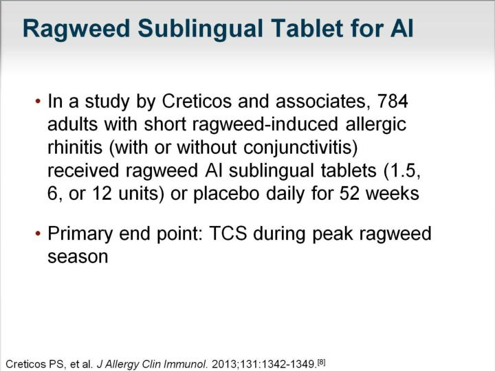 Ragweed Sublingual Tablet for AI
