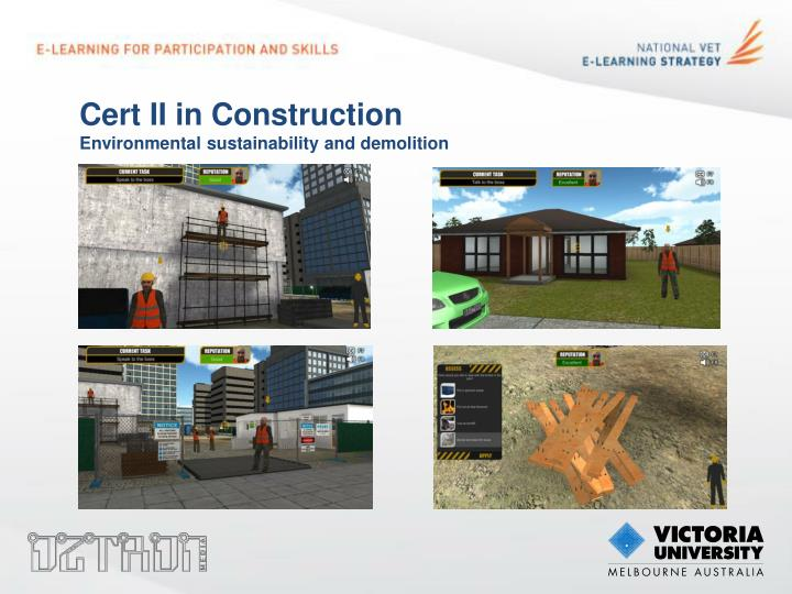 Cert II in Construction