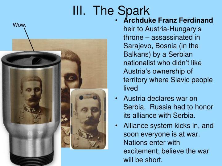 III.  The Spark