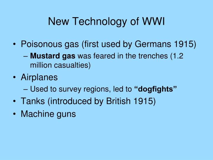 New Technology of WWI