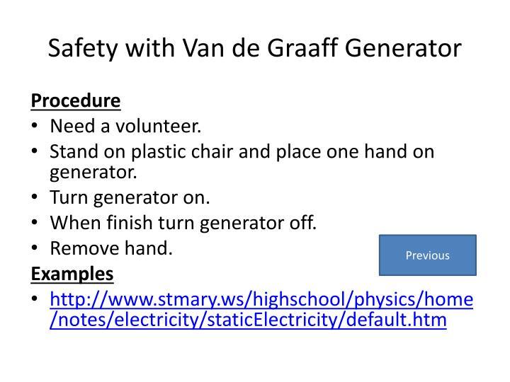 Safety with Van de
