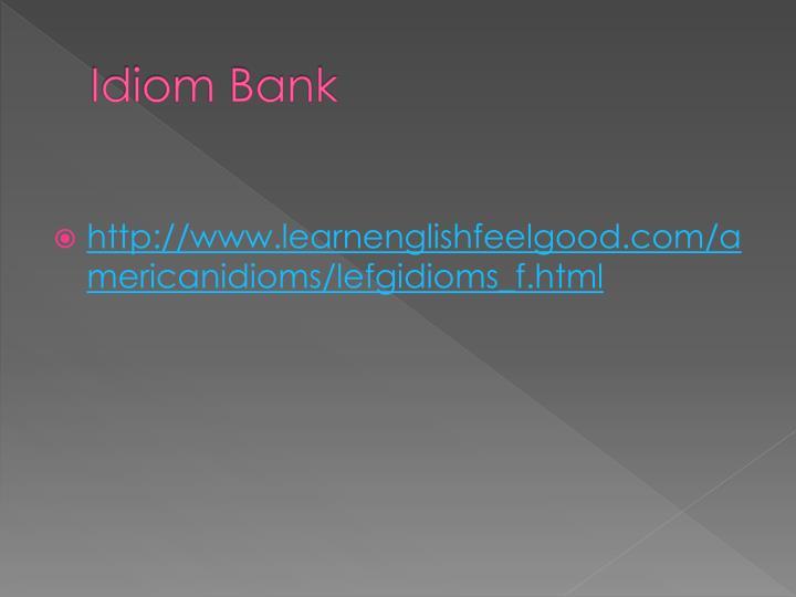 Idiom Bank