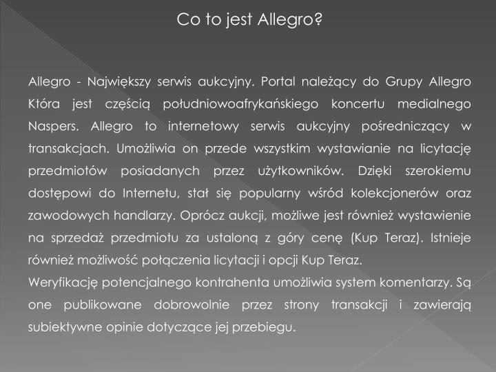 Co to jest Allegro?