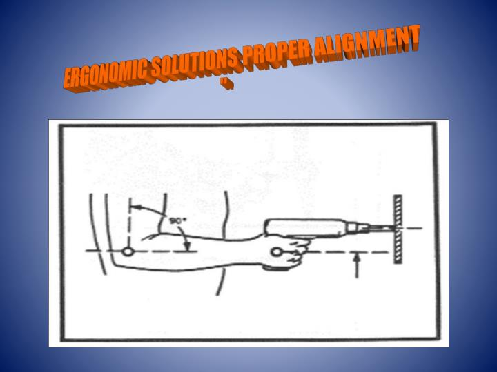 ERGONOMIC SOLUTIONS PROPER ALIGNMENT