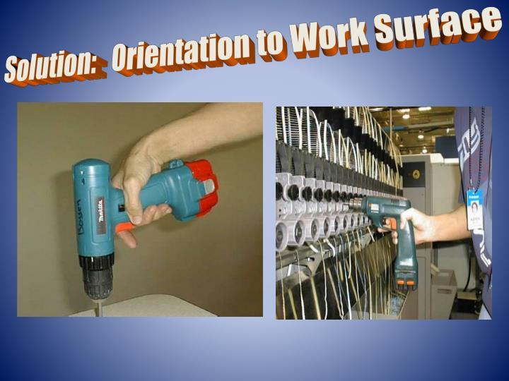 Solution:   Orientation