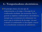 6 temporizadores electr nicos