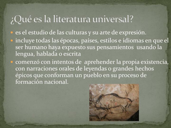 ¿Qué es la literatura universal?
