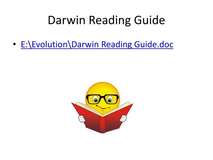 Darwin Reading Guide