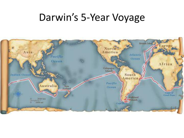 Darwin's 5-Year Voyage