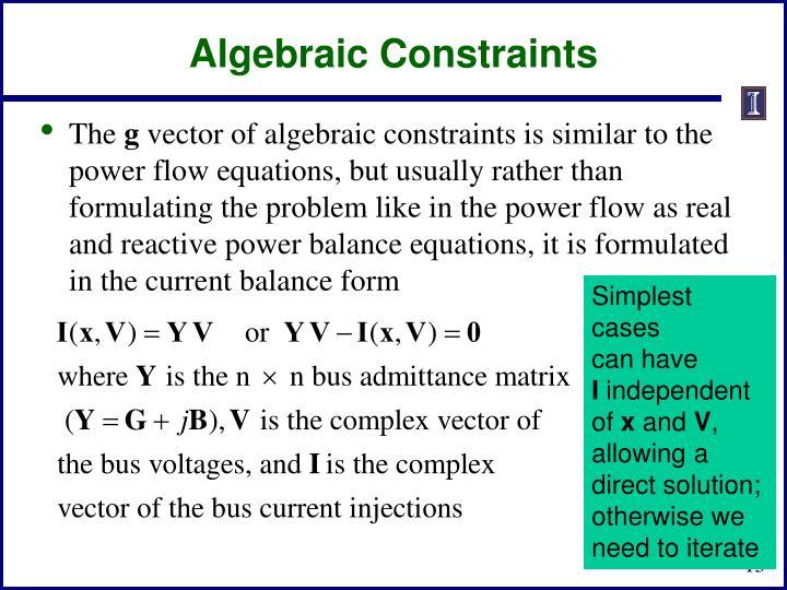 Algebraic Constraints
