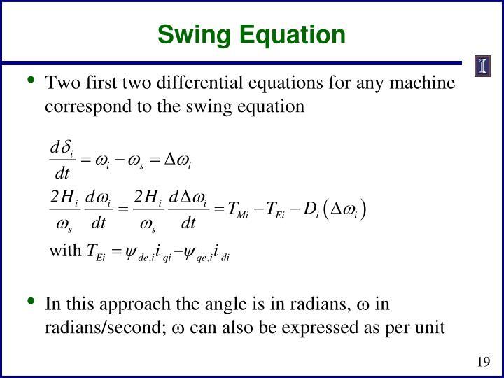 Swing Equation