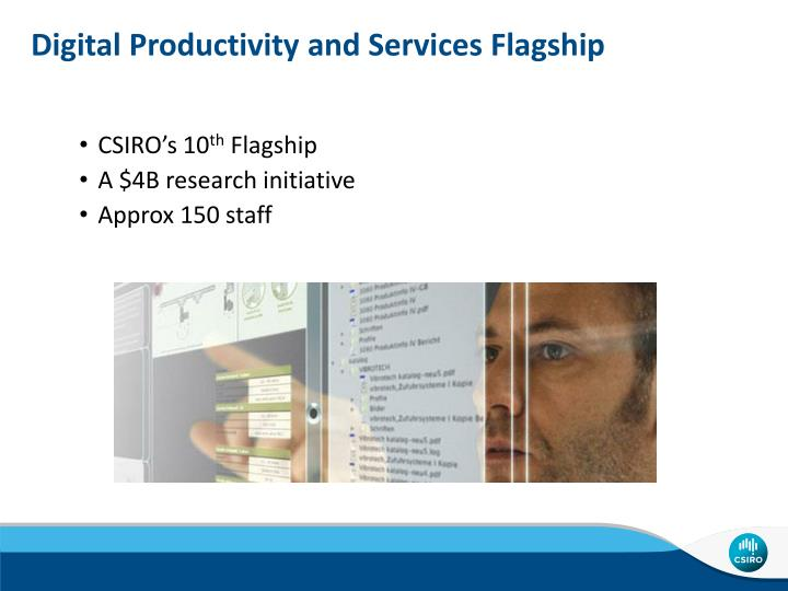 Digital Productivity and Services Flagship