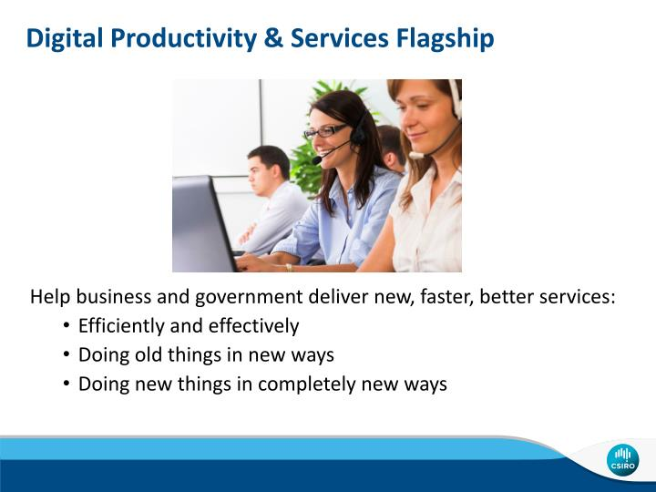 Digital Productivity & Services Flagship