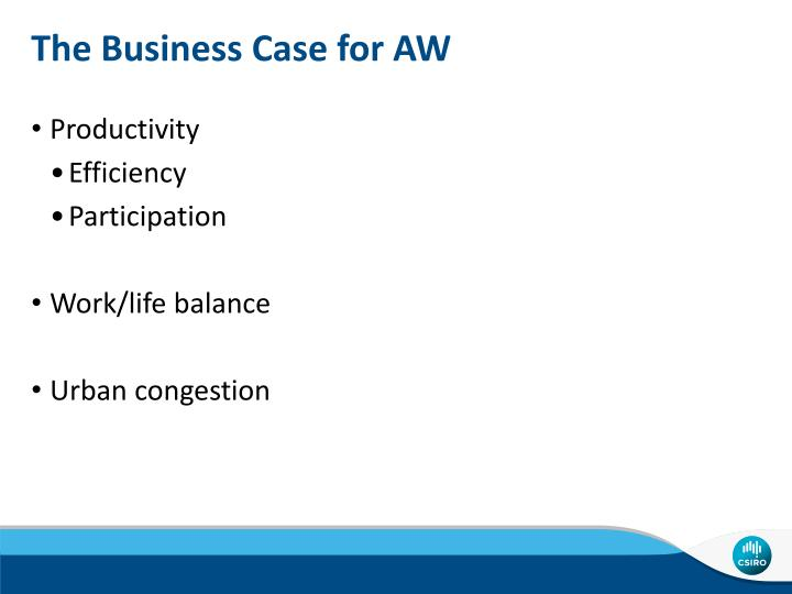 The Business Case for AW