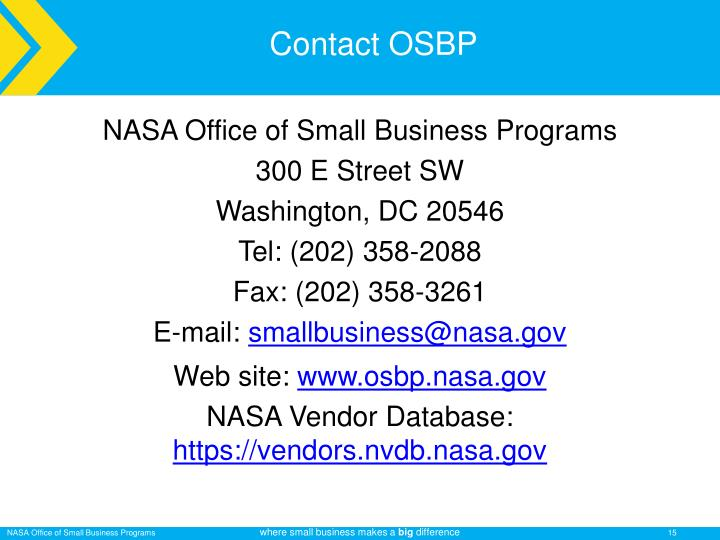Contact OSBP