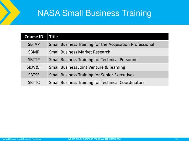 NASA Small Business Training