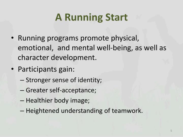 A Running Start