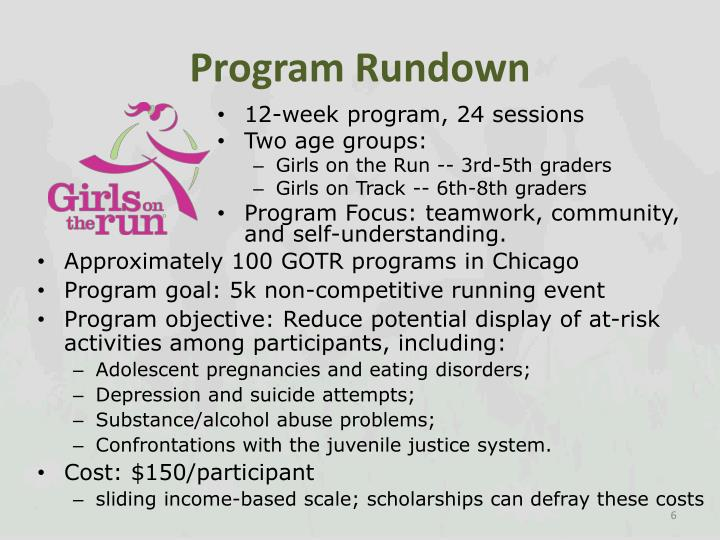 Program Rundown
