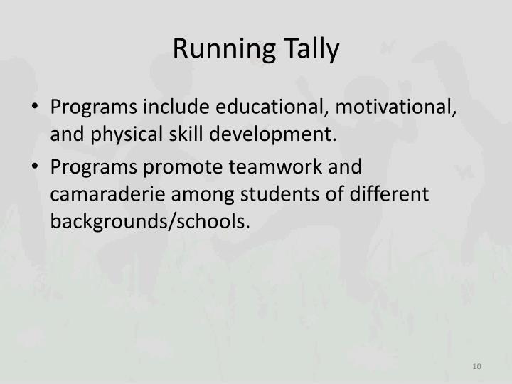 Running Tally