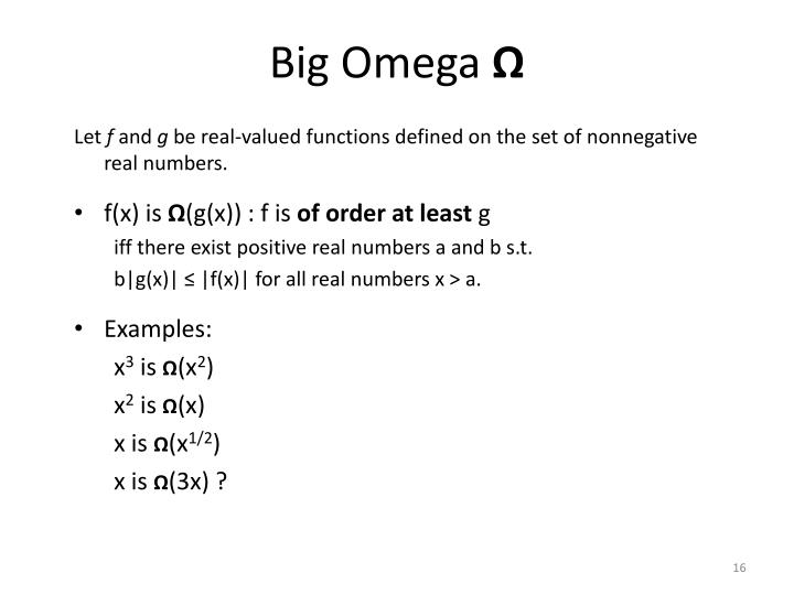 Big Omega