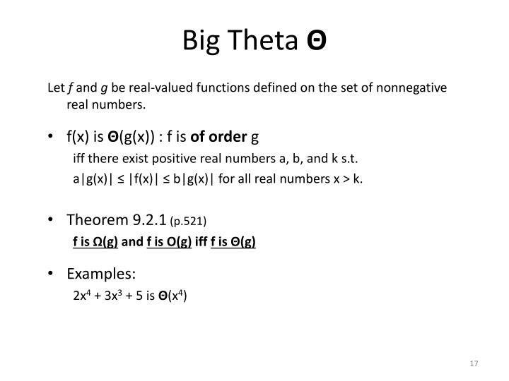 Big Theta