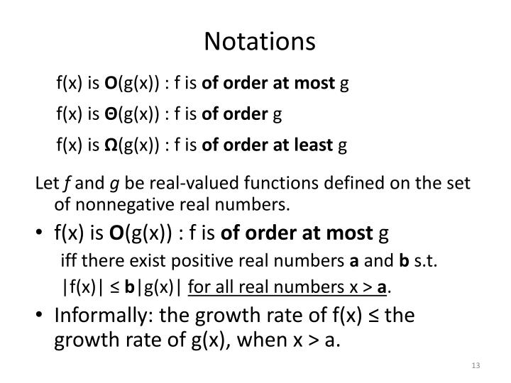 Notations