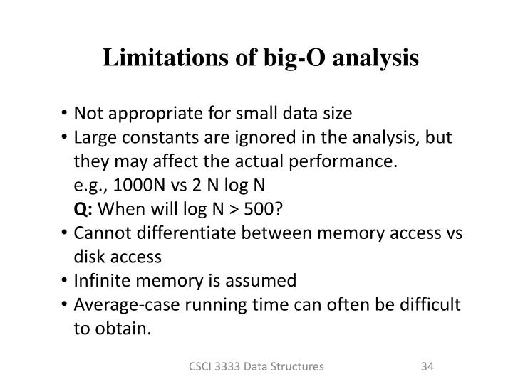 Limitations of big-O analysis