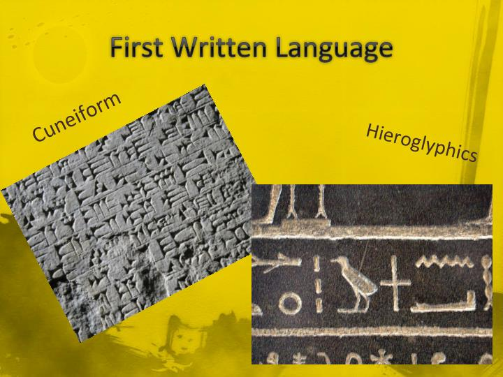First Written Language