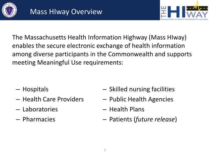 Mass hiway overview