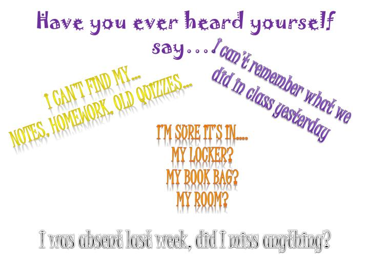 Have you ever heard yourself say….