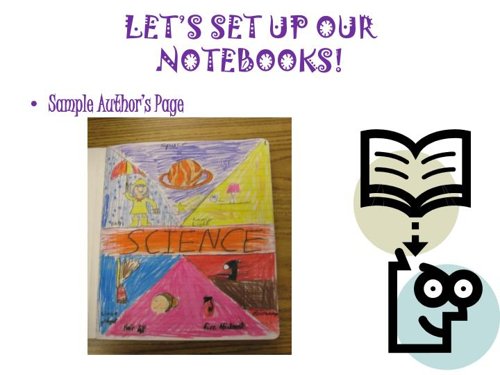 LET'S SET UP OUR NOTEBOOKS!