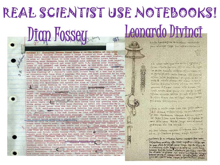 REAL SCIENTIST USE NOTEBOOKS!