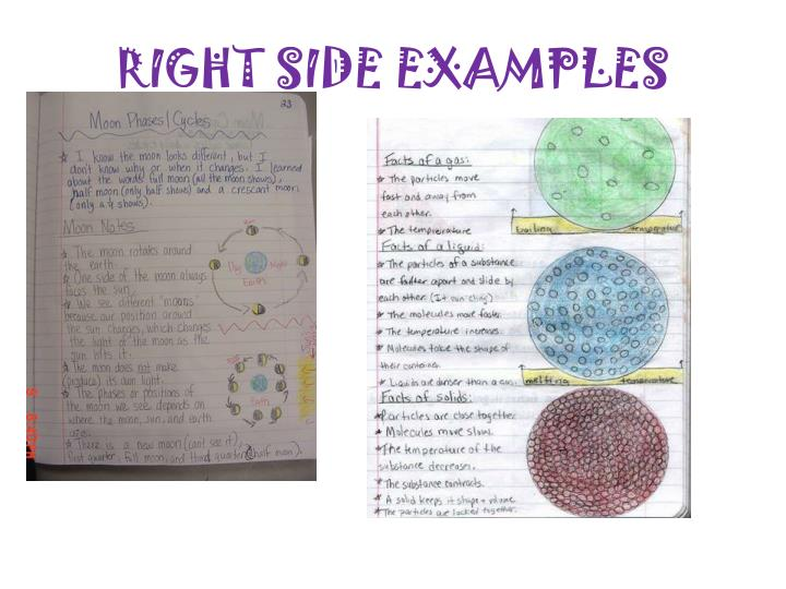 RIGHT SIDE EXAMPLES