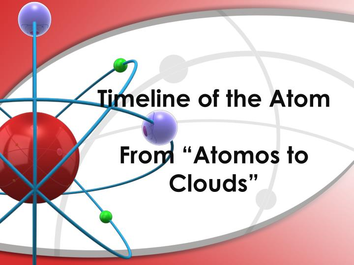Timeline of the atom from atomos to clouds