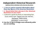 independent historical research significant ethnic individuals of the american revolution