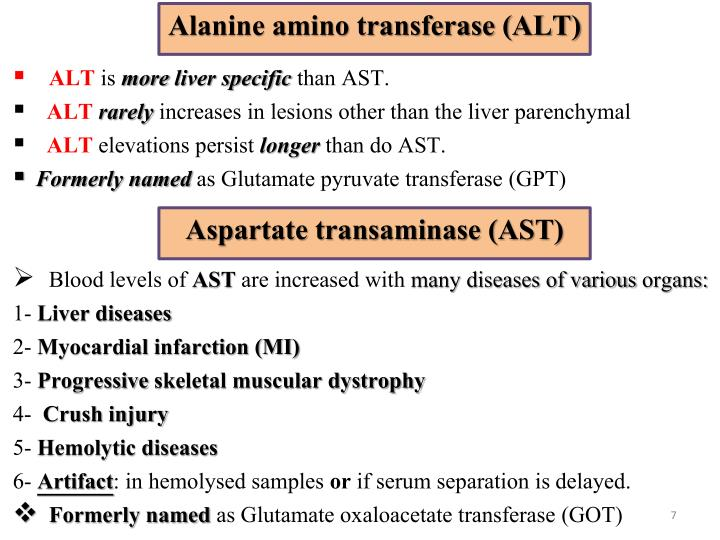 Alanine amino transferase (ALT)