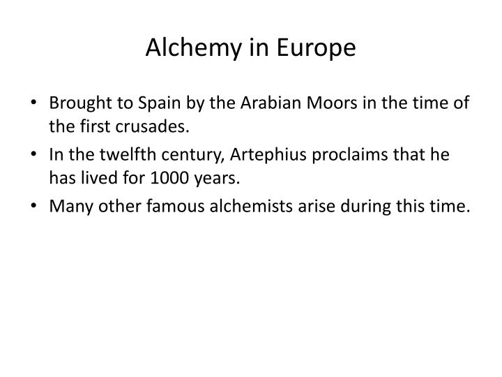 Alchemy in Europe