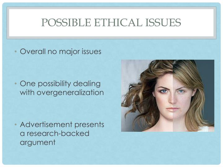 Possible Ethical Issues
