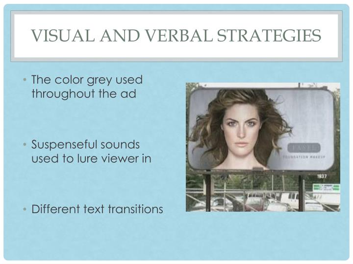 Visual and verbal strategies