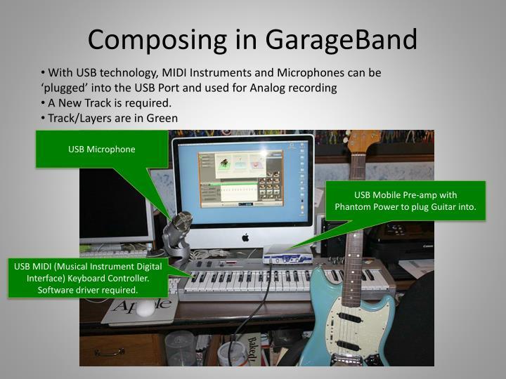 Composing in GarageBand