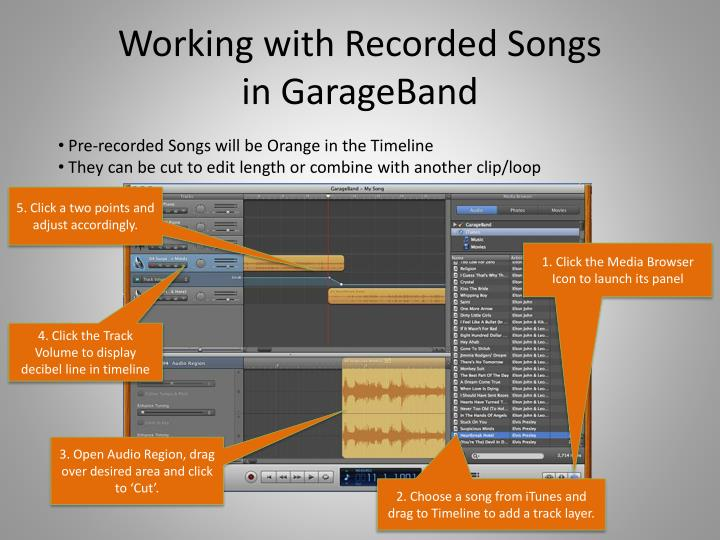 Working with Recorded Songs