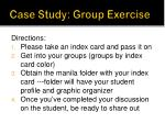 case study group exercise