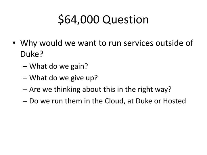 $64,000 Question