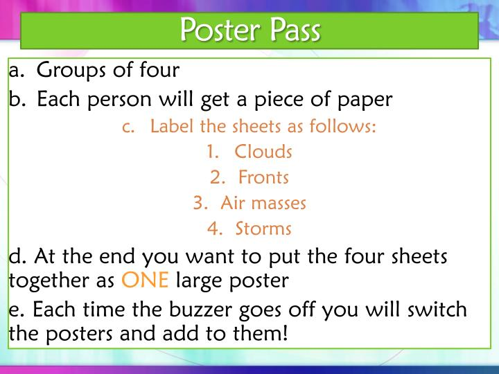 Poster Pass