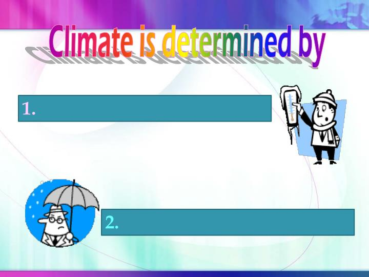 Climate is determined by