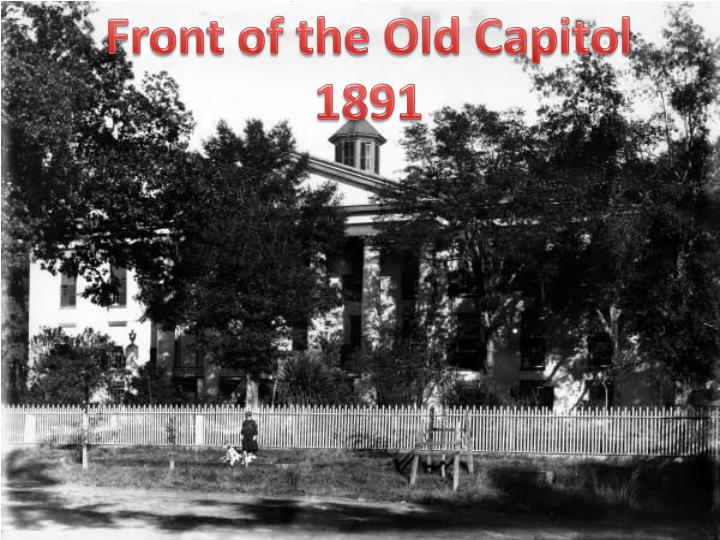 Front of the Old Capitol