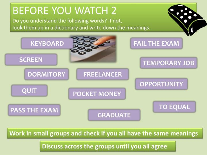 BEFORE YOU WATCH 2