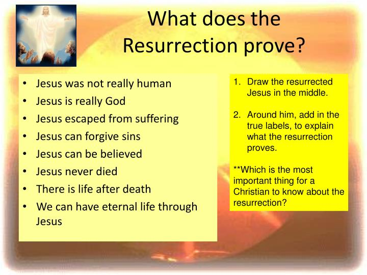 What does the Resurrection prove?